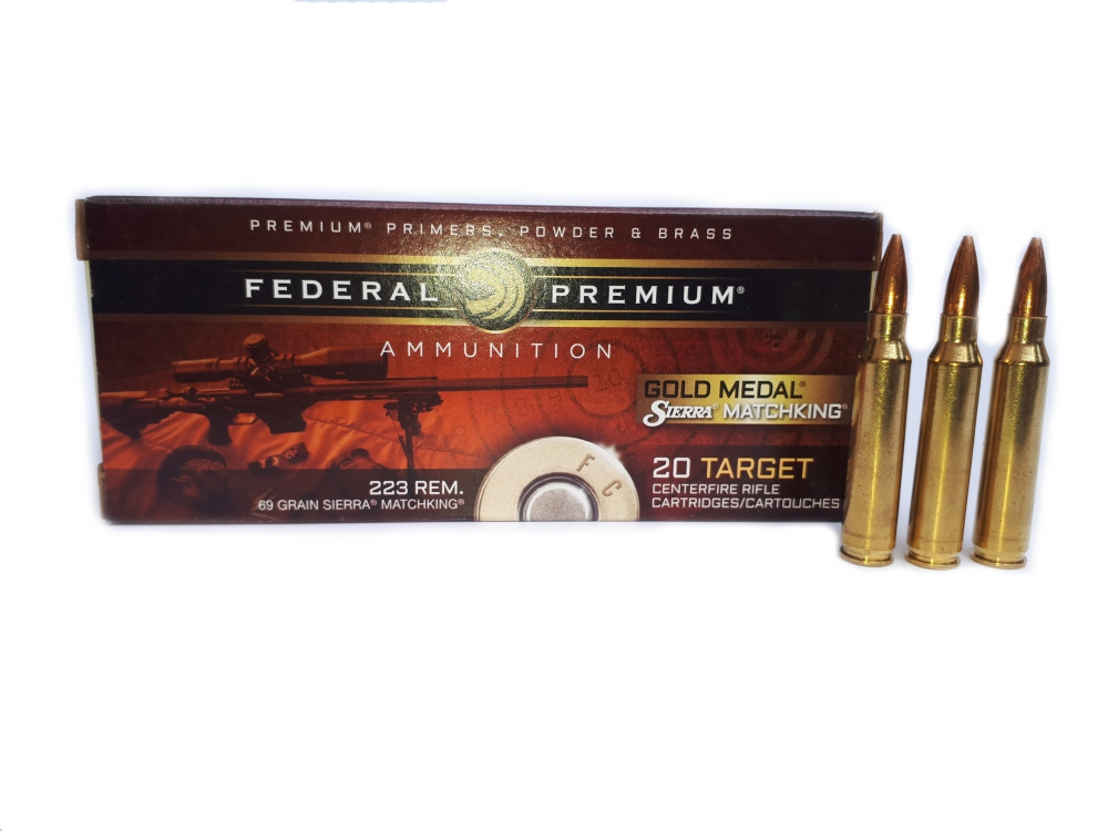 Federal Match.223 Remigton 69 gr. HP