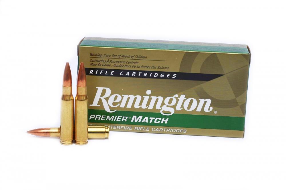 Remington Premier-Match .308 mit 168 gr. Sierra-Matchking-Geschoss